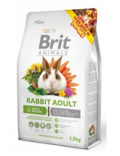 Brit Animals Conejo Adulto 1,5 kg.