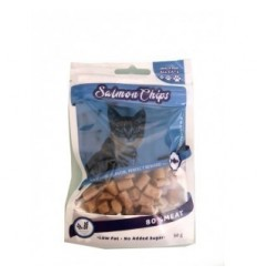 Snack Salmon Chips For Cats Pack